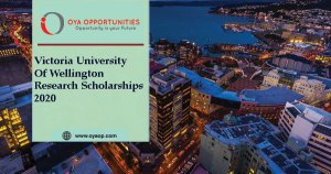 Victoria University of Wellington Research Scholarship 2020