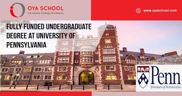Fully Funded Undergraduate Degree at UPenn