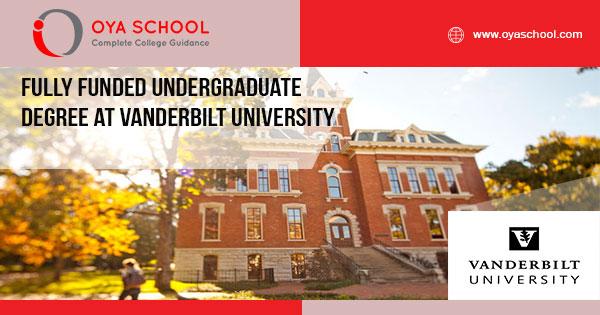 Fully Funded Undergraduate Degree at Vanderbilt University