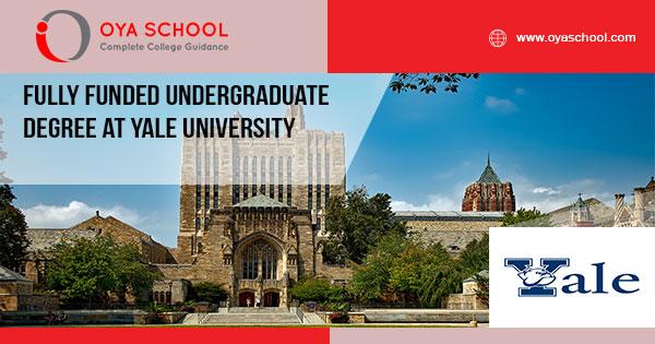 Fully Funded Undergraduate Degree at Yale University