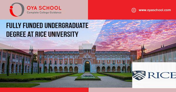 Fully Funded Undergraduate Degree at Rice University