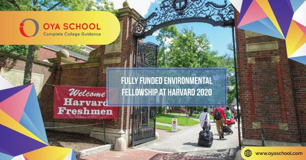 Fully Funded Environmental Fellowship at Harvard 2020