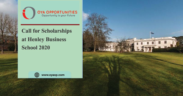 Call for Scholarships at Henley Business School 2020