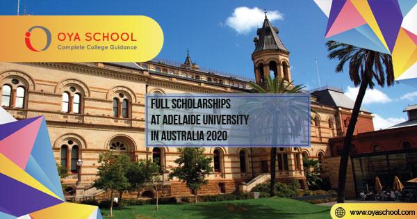 Full Scholarships at Adelaide University in Australia 2020