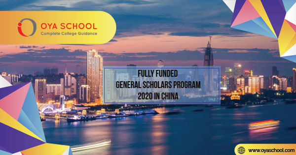 Funded General Scholars Program 2020 in China
