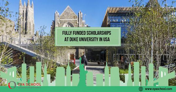 Fully Funded Scholarships in USA at Duke University