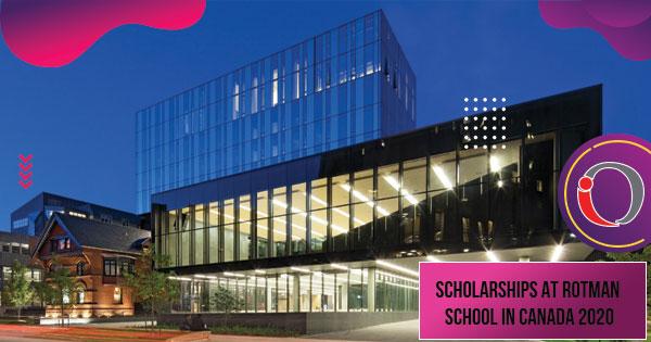 Scholarships at Rotman School in Canada 2020