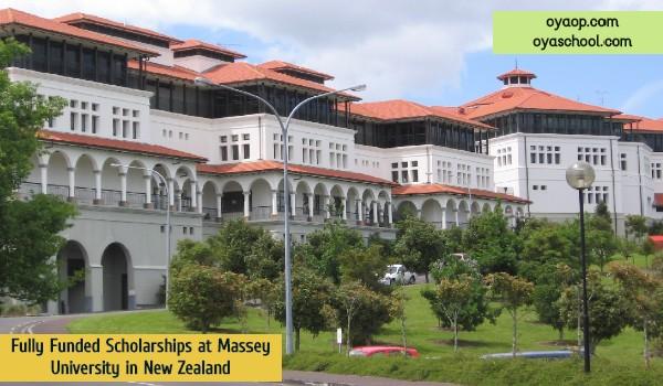 Fully Funded Scholarships at Massey University in New Zealand