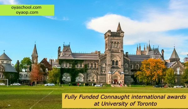 Fully Funded Connaught international awards at University of Toronto
