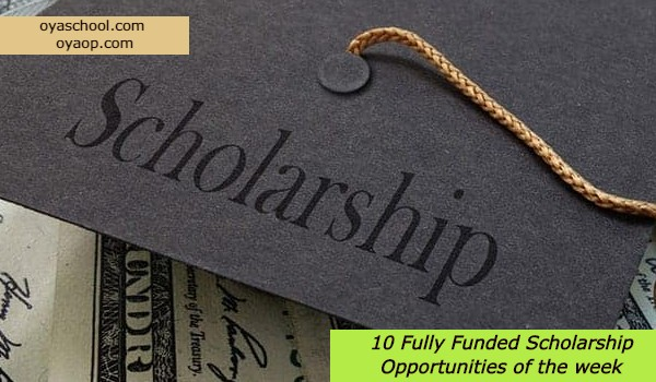 10 Fully Funded Scholarship Opportunities Of The Week Oya School
