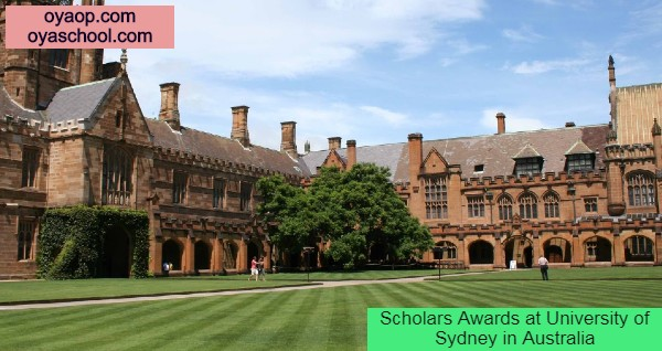 Scholars Awards at University of Sydney in Australia