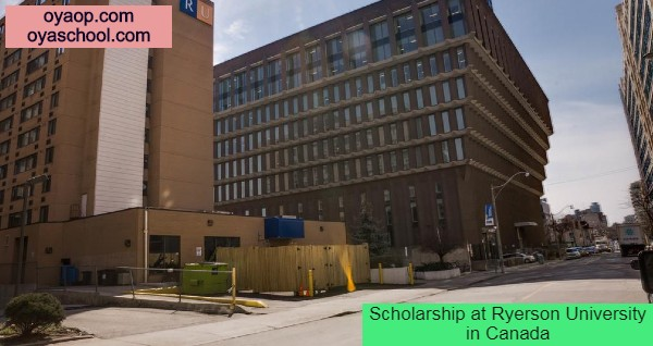 Scholarship at Ryerson University in Canada