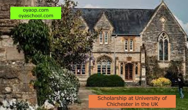 Scholarship at University of Chichester in the UK