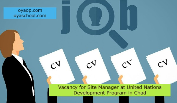 Vacancy for Site Manager at United Nations Development Program in Chad