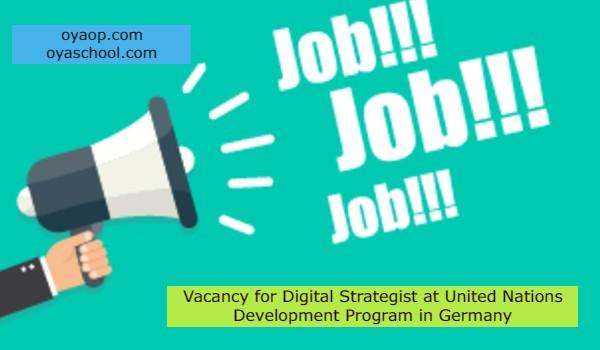 Vacancy for Digital Strategist at United Nations Development Program in Germany