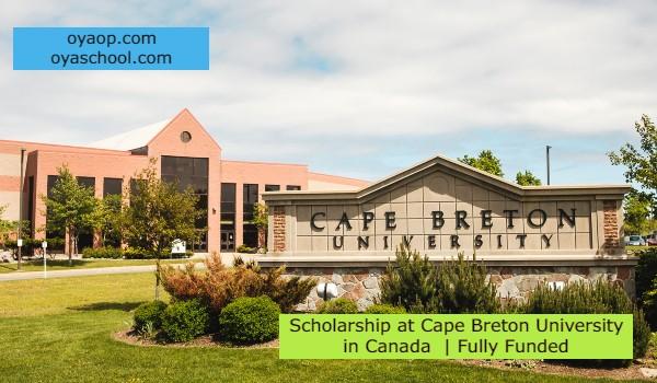 Scholarship at Cape Breton University in Canada | Fully Funded