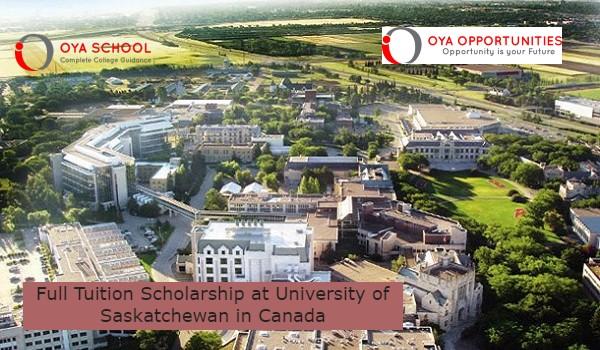 Full Tuition Scholarship at University of Saskatchewan in Canada