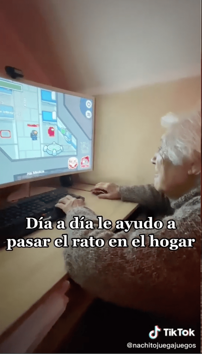 Ternura nivel: La abuelita gamer que juega 'Among Us' y está conquistando internet