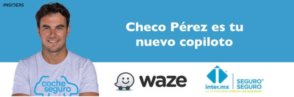Checo Perez presta su voz en Waze