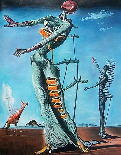 yanan zürafa orijinal çizim