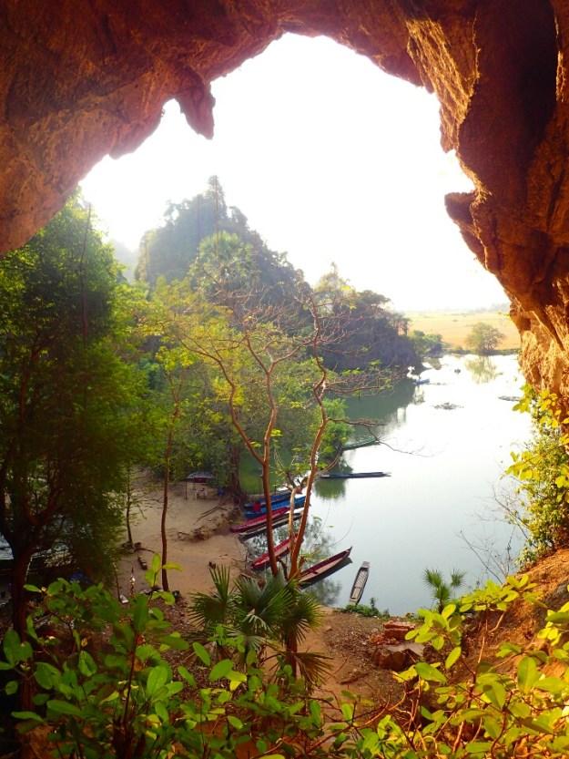 Hpa-an : Lac de l'autre coté de la grotte | Lake on the other side of the cave
