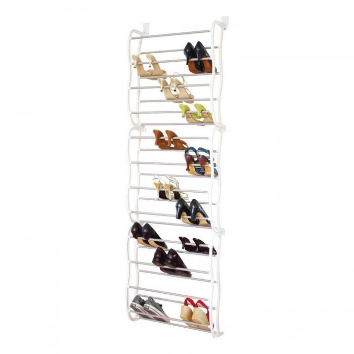Door Hanging Shoe Rack White 36 Pair 1499 Oypla
