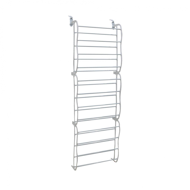 White 36 Pair Door Hanging Shelf Shoe Rack Storage