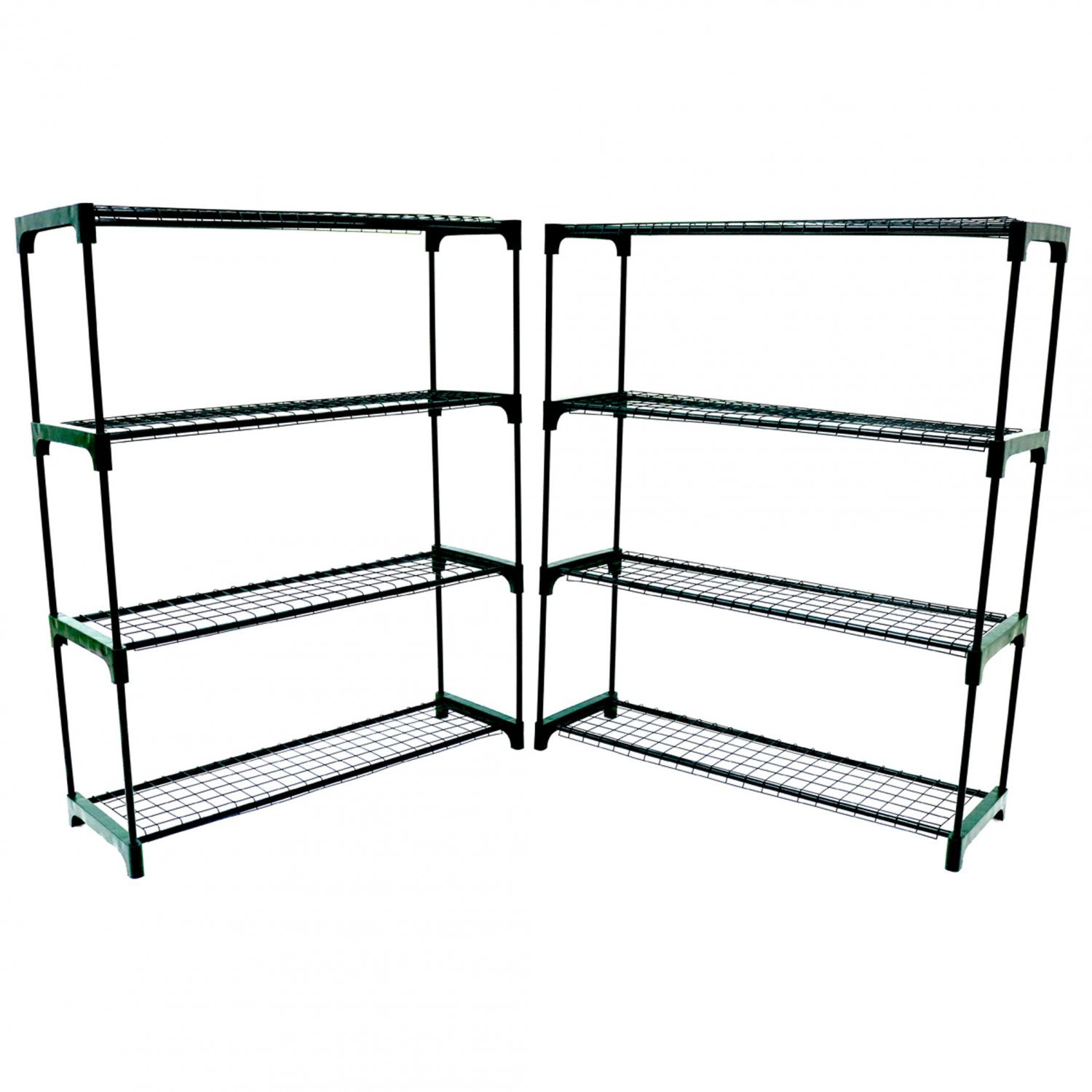 Double Pack Flower Staging Display Greenhouse Racking