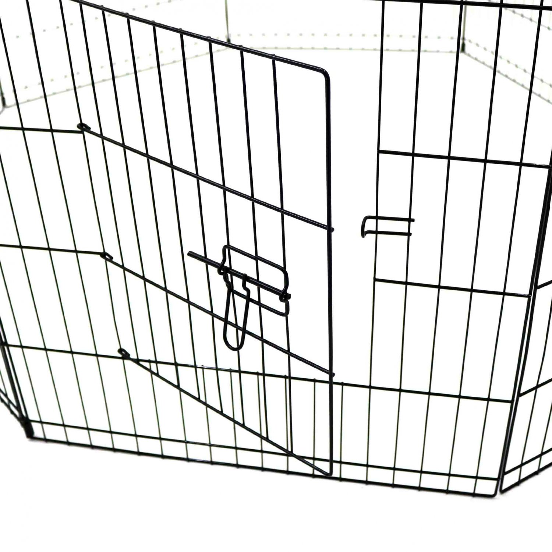 Medium Folding Pet Dog Rabbit Run Play Pen Cage Enclosure Fence