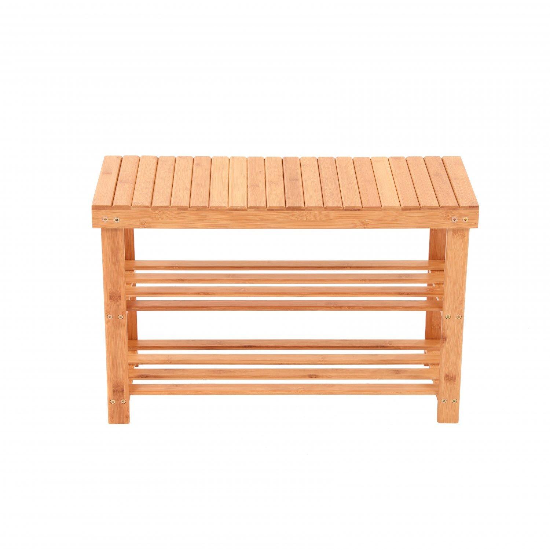 3 tier wooden bamboo shoe rack bench storage organiser holder