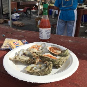 half shells Apalachicola Oyster Cook-Off