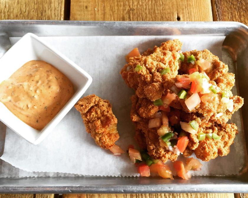 cornmeal-crusted fried Alabama oysters