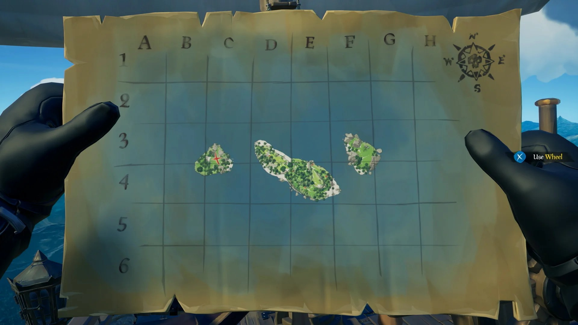 Image result for sea of thieves island x map