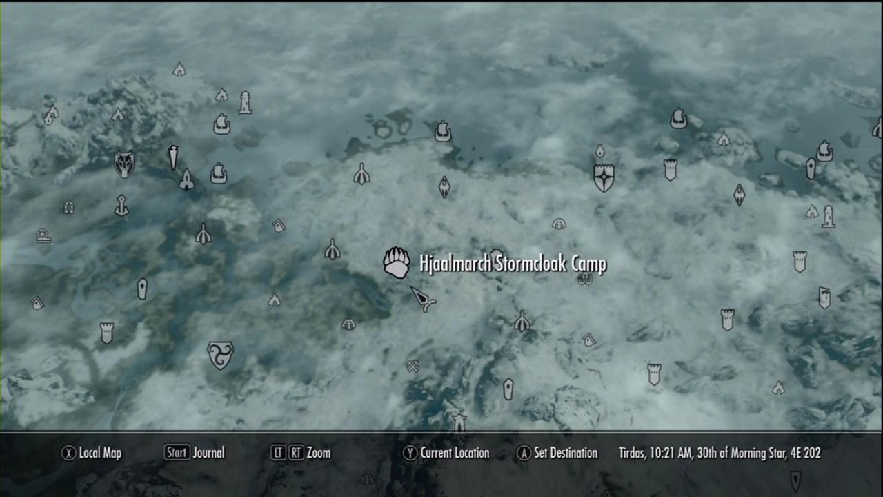 Hjaalmarch Stormcloak Camp The Elder Scrolls V Skyrim Wiki Guide IGN