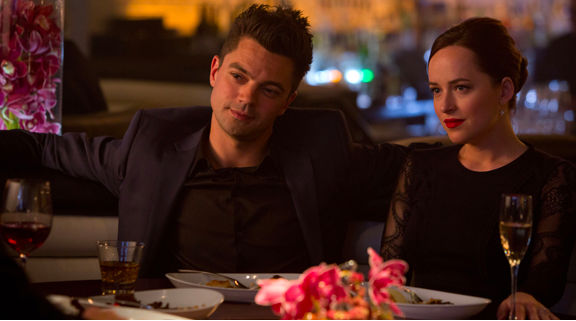 Dominic Cooper and Dakota Johnson in Need for Speed.