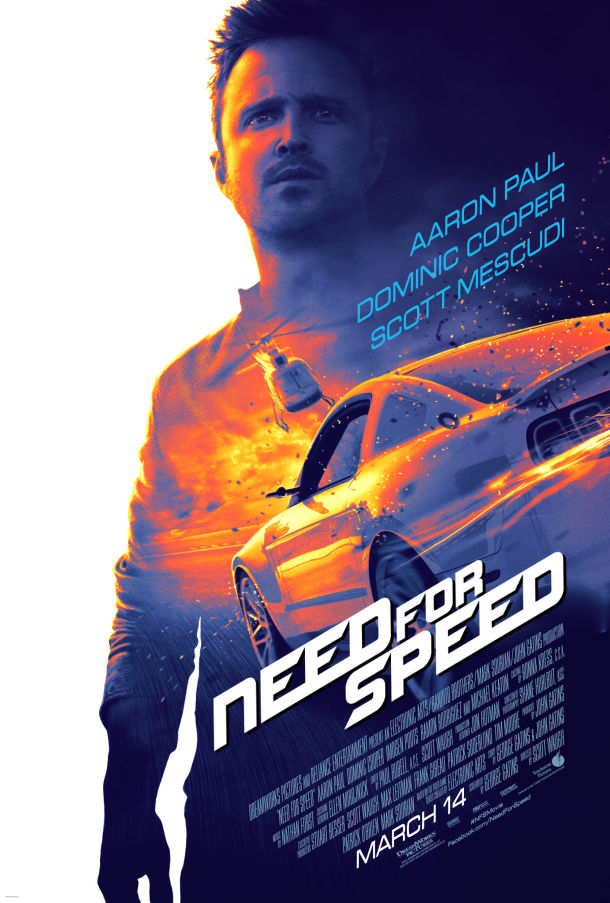 Aaron Paul stars in Need for Speed.