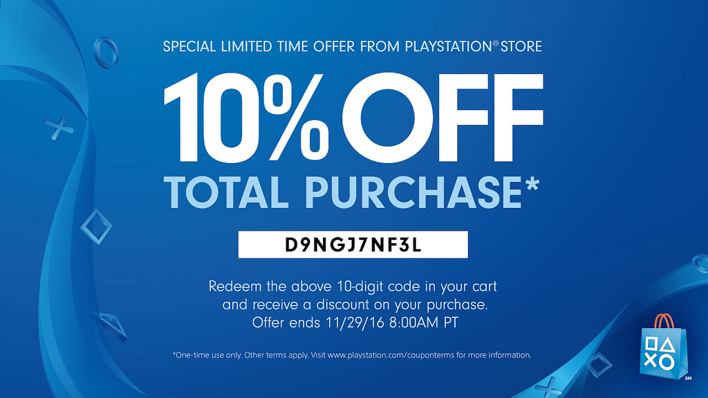 Sony Gives Away 10 PlayStation Store Black Friday
