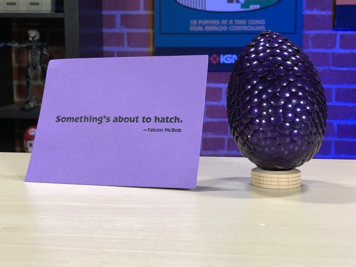 O misterioso ovo roxo.