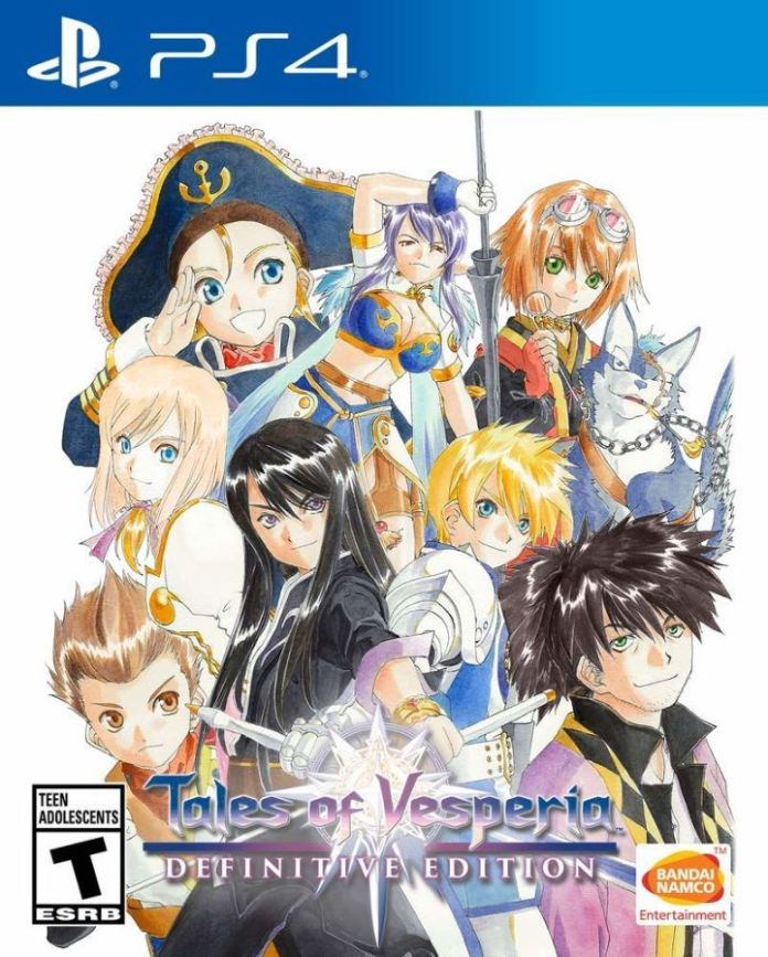 PS4 cover art for Tales of Vesperia Definitive Edition.