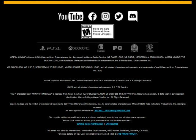 Ash Mortal Kombat 11 Email Seemingly Leaks Evil Dead's Ash as DLC Character   IGN