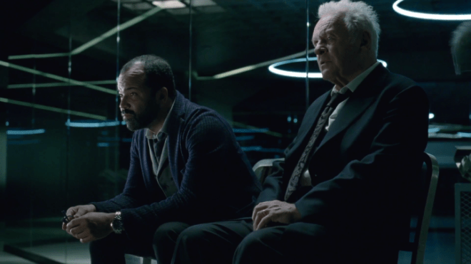Jeffrey-Wright-as-Bernard-Lowe-and-Anthony-Hopkins-as-Dr.-Robert-Ford-sitting-in-Westworld-720x405 Westworld: The 5 Biggest Questions for Season 3 | IGN