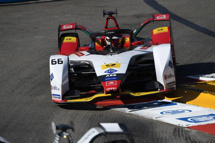 66 German driver Daniel Abt of Audi Sport Abt Schaeffler Formula E Team drive her single-seater during the 3rd edition of Monaco E-Prix, in port neighborhood in Monaco, France (Photo by Andrea Diodato/NurPhoto via Getty Images)