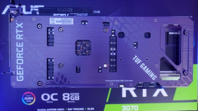 Backplate-720x405 Asus RTX 3070 TUF Gaming OC Graphics Card Review   IGN