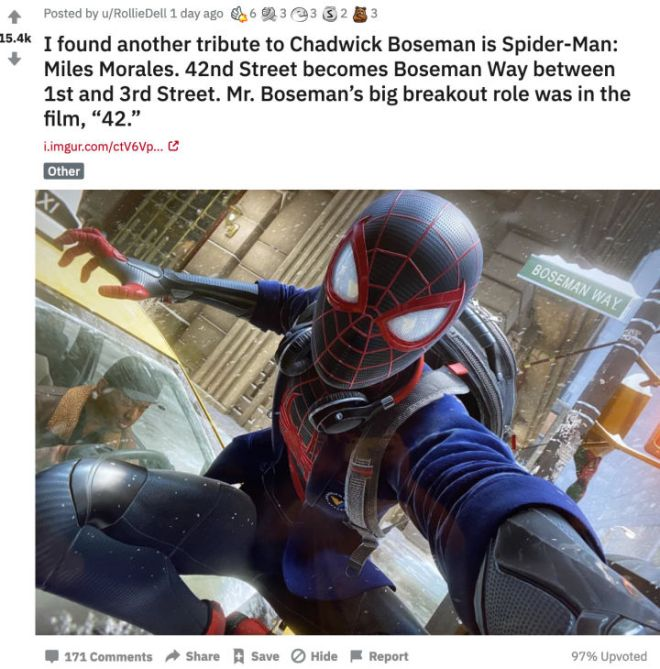 Screenshot_2020-11-21-r-marvelstudios-I-found-another-tribute-to-Chadwick-Boseman-is-Spider-Man-Miles-Morales-42nd-Street...1-720x730 Spider-Man: Miles Morales Names a Street After Chadwick Boseman | IGN