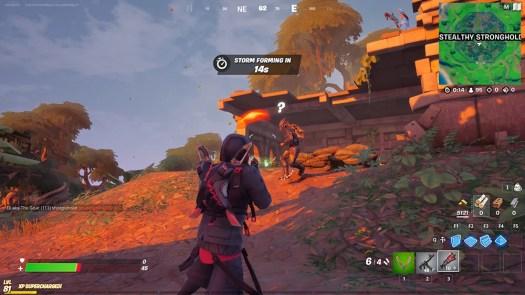 Fortnite Predator fight