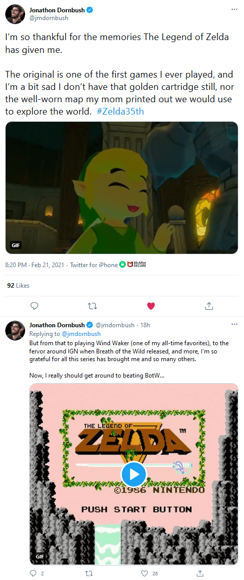 Screenshot_2021-02-22-Jonathon-Dornbush-on-Twitter It Felt Like Everyone Celebrated Zelda's 35th Anniversary Except Nintendo   IGN
