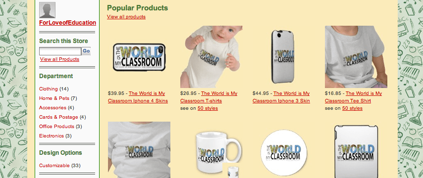 Shop our store on Zazzle