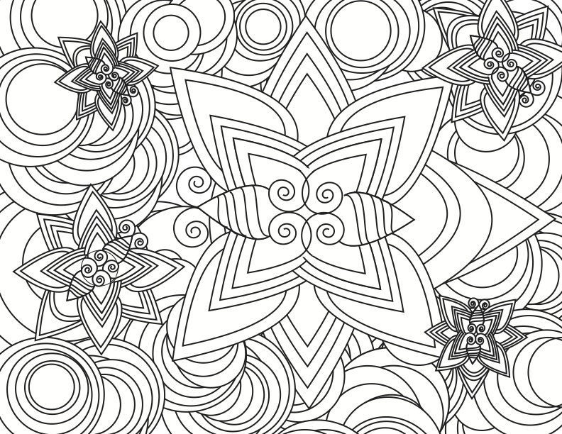 Superb flowers - Flowers Coloring pages for kids to print & color | 612x792