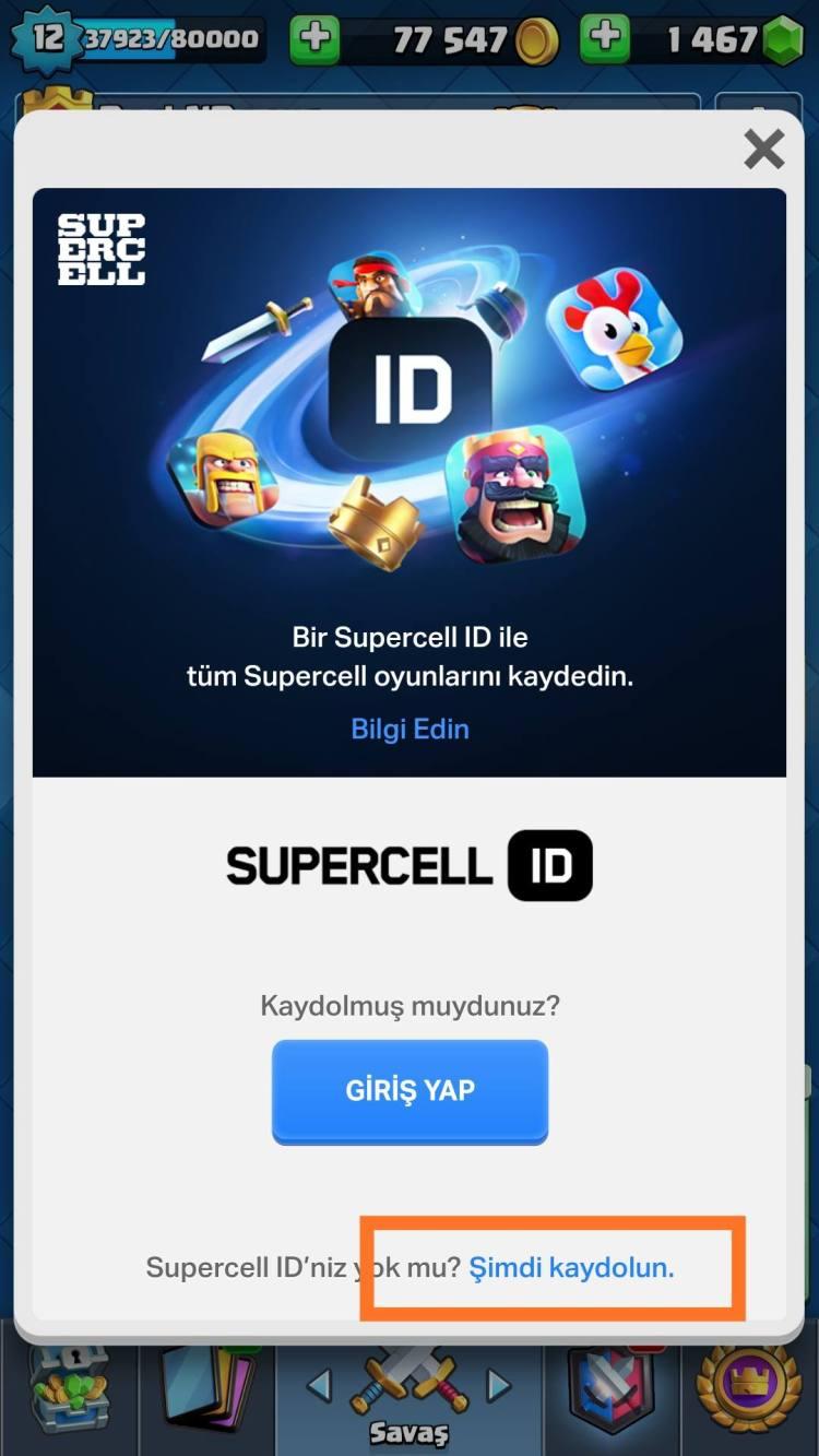 Supercell ID bağlantı alma