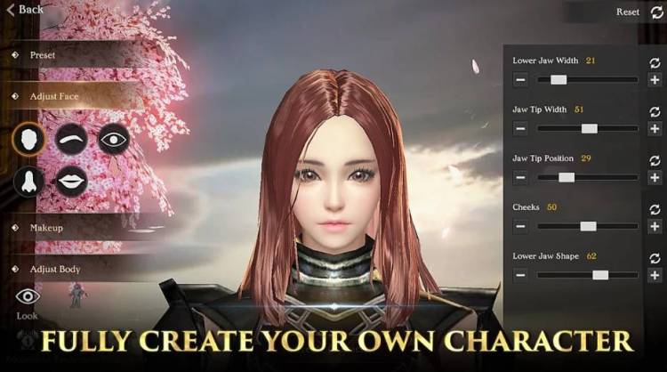 talion karakter yaratma ekranı